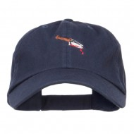Bloody Knife Embroidered Dyed Cap - Navy