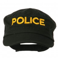 Police Embroidered Enzyme Army Cap - Black