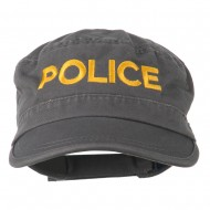 Police Embroidered Enzyme Army Cap - Grey