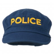 Police Embroidered Enzyme Army Cap - Navy