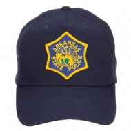 Arkansas State Police Patched Cap - Navy
