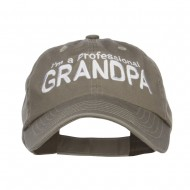 I'm a Professional Grandpa Embroidered Low Cap - Olive
