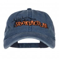 Spooktacular Embroidery Washed Cap - Navy