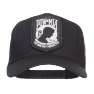 Pow Mia Military Patch Mesh Cap - Black