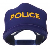 Youth Police Embroidered Foam Mesh Back Cap - Purple