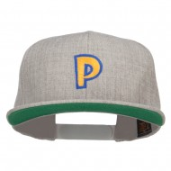Poke Monster P Embroidered Snapback Cap - Heather