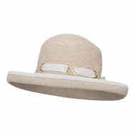 UPF 50+ Tweed Roll Up Hat - White