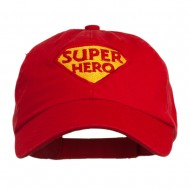 Halloween Super Hero Embroidered Low Profile Cap - Red