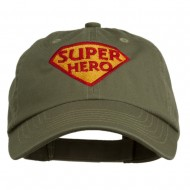 Halloween Super Hero Embroidered Low Profile Cap - Olive