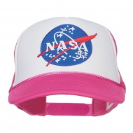 NASA Lunar Patched 5 Panel Foam Cap 1- Hot Pink White