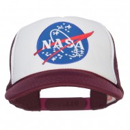 NASA Lunar Patched 5 Panel Foam Cap 1 - Maroon White