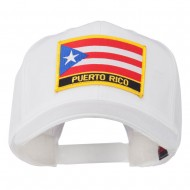 Puerto Rico Flag Letter Patched Cap - White
