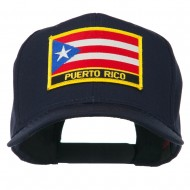 Puerto Rico Flag Letter Patched Cap - Navy