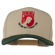 Pow Mia Logo Embroidered Two Tone Cap - Green Khaki