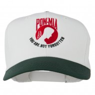 Pow Mia Logo Embroidered Two Tone Cap - White Green