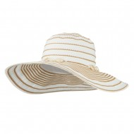 Pearl Accent Crushable Sun Hat - White