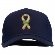 Army Support Ribbon Embroidered Cap - Navy