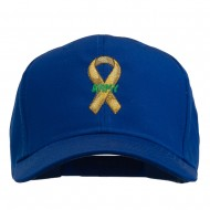 Army Support Ribbon Embroidered Cap - Royal