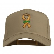 Army Support Ribbon Embroidered Cap - Khaki