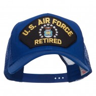 US Air Force Retired Military Patched Mesh Cap - Royal