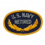 Retired Embroidered Military Patch - Navy