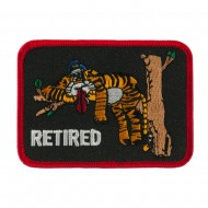 Retired Embroidered Military Patch - Retired