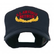US Air Force Retired Emblem Embroidered Cap - Navy