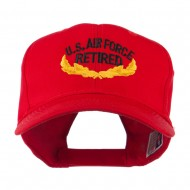 US Air Force Retired Emblem Embroidered Cap - Red