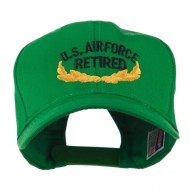 US Air Force Retired Emblem Embroidered Cap - Kelly