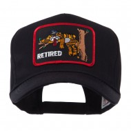 Retired Embroidered Military Patch Cap - Retired