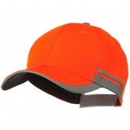 Reflective Fabric Accents Safety Cap - Orange
