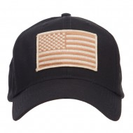 Desert American Flag Patched Cap - Black