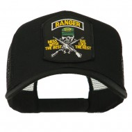 US Army Ranger Patched Mesh Back Cap - Black