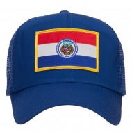 Missouri State Flag Patched Mesh Cap - Royal