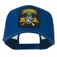 US Army Ranger Patched Mesh Back Cap - Royal