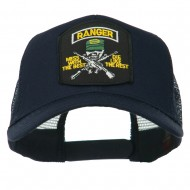 US Army Ranger Patched Mesh Back Cap - Navy