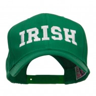 Irish Embroidered High Profile Cap - Kelly