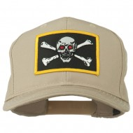Red Eye Skull Choppers Patched Cap - Khaki