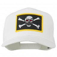 Red Eye Skull Choppers Patched Cap - White