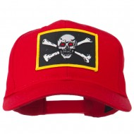 Red Eye Skull Choppers Patched Cap - Red