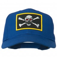 Red Eye Skull Choppers Patched Cap - Royal