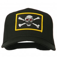 Red Eye Skull Choppers Patched Cap - Black