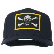 Red Eye Skull Choppers Patched Cap - Navy