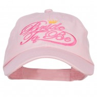 Bride To Be Embroidered Washed Ball Cap - Pink