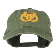 3 Rings Connected Embroidered Cap - Olive Green