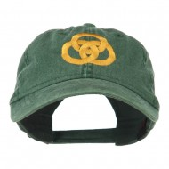 3 Rings Connected Embroidered Cap - Dark Green