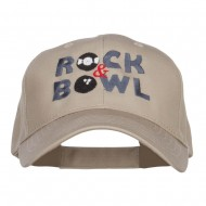 Rock and Bowl Embroidered Organic Cotton Cap - Khaki