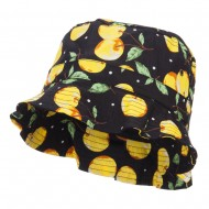 Women's Fruit Motif Bucket Hat - Cherry Yellow