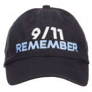 911 Remembered Embroidered Low Profile Cap - Black