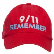 911 Remembered Embroidered Low Profile Cap - Red